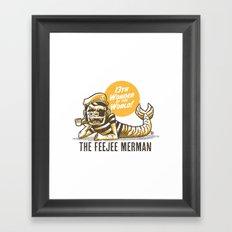Feejee merman Framed Art Print