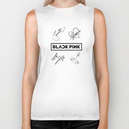 Black Pink All tribute Biker Tank