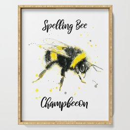 Spelling Bee Champbeeon - Punny Bee Serving Tray
