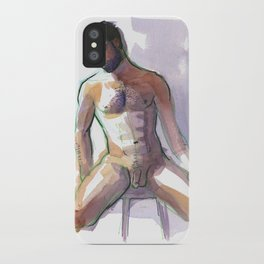 BRADLEY, Nude Male by Frank-Joseph iPhone Case