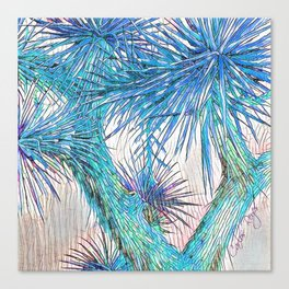 Joshua Tree VGBlue by CREYES Canvas Print