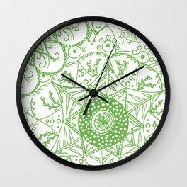 Beth Mandala Green Wall Clock