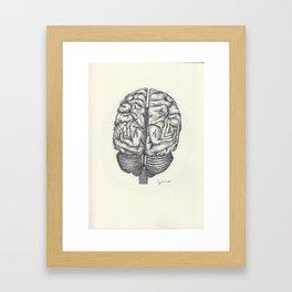 BALLPEN BRAIN 1 Framed Art Print
