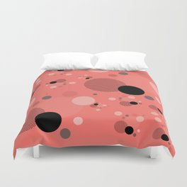 Coral Dots Duvet Cover
