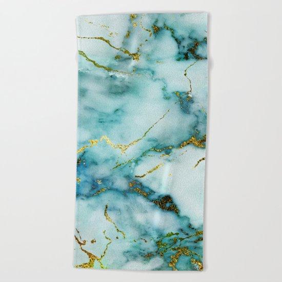 Marble Effect #1 Beach Towel