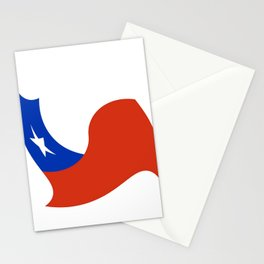 Flag of Chile 3 -Spanish,Chile,chilean,chileno,chilena,Santiago,Valparaiso,Andes,Neruda. Stationery Cards