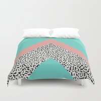 90s Duvet Covers featuring 90s Chevron by Zeke Tucker