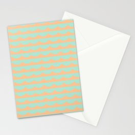 Peach Scallops Stationery Cards