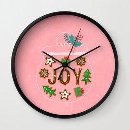 Christmas cookies jar Wall Clock