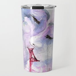 """Watercolor Painting of Picture """"Passion"""" Travel Mug"""
