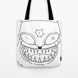 Puzz Impolite Angry Cat T-shirt Tote Bag
