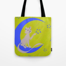 Silhouette Against the Moon Tote Bag
