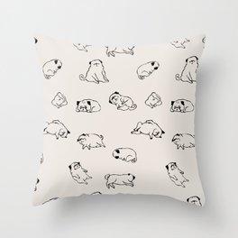 More Sleep Pug Throw Pillow