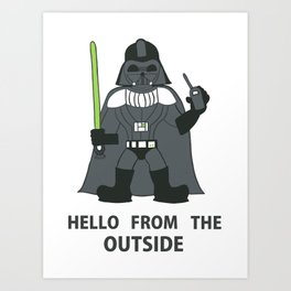Darth Quotes Adele Art Print