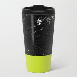 Lime Punch Meets Black Marble #1 #decor #art #society6 Metal Travel Mug