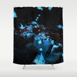 Abstract Black Blue Outer Space Galaxy Cosmos Jodilynpaintings Painting Shower Curtain