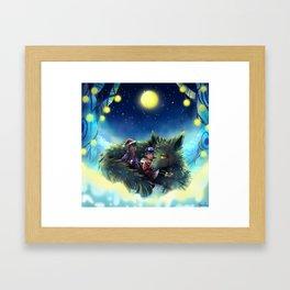 Snowy Wolf Framed Art Print