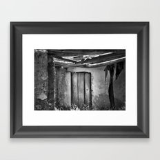 the forgotten secrets of the mountain house in ruins Framed Art Print