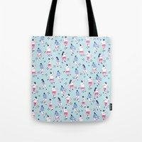 football Tote Bags featuring Football by Sara Maese