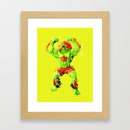 Street Fighter II - Blanka Framed Art Print