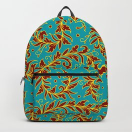Lacy Leaves Turquoise Backpack
