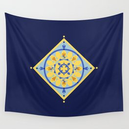 Sicilian Flowers Wall Tapestry