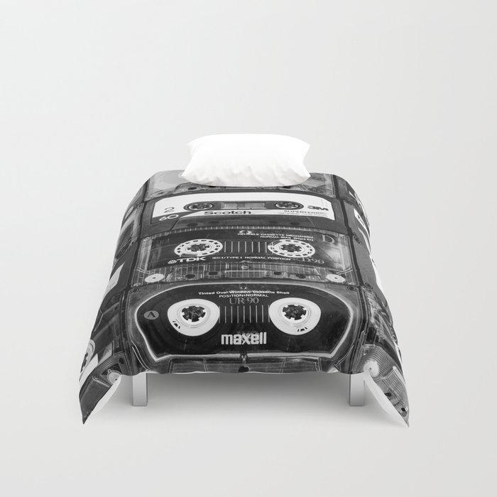 Something Nostalgic - black and white #decor #buyart #society6 Duvet Cover