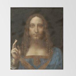 Price Slashed on 450M Leonardo da Vinci Salvator Mundi Throw Blanket