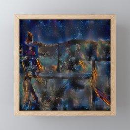 Night at the Ranch Framed Mini Art Print