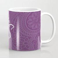 hindu Mugs featuring Purple Ganesha - Hindu Elephant Deity by Enduring Moments