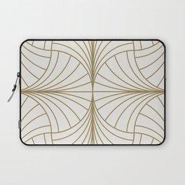 Diamond Series Inter Wave Gold on White Laptop Sleeve