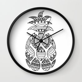 Ornate pineapple Wall Clock
