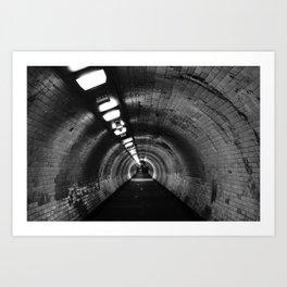 Beneath the Thames Art Print