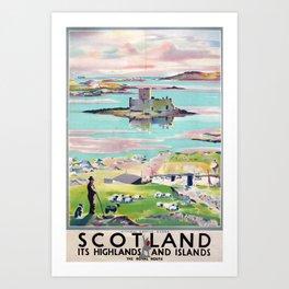 Scotland Vintage Travel Poster Art Print