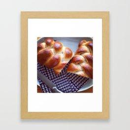 Challah at home Framed Art Print