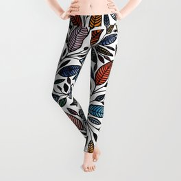 Floral Illustration - Leaf - No*52 Leggings