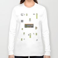 computer Long Sleeve T-shirts featuring Computer Virus by Bakal Evgeny