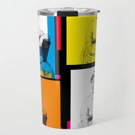 JANE AUSTEN (POP ART STYLE 4-UP COLLAGE) Travel Mug