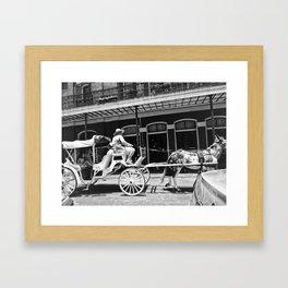 Mule Drawn Carriage Framed Art Print