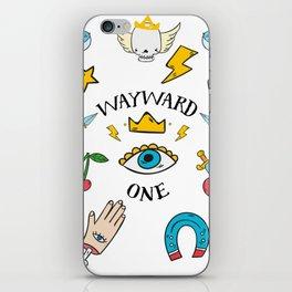 Wayward One - Old School Tattoo Flash Art iPhone Skin