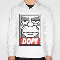 homer Hoodies featuring Dope Homer by MaNia Creations