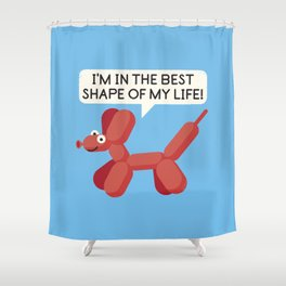Inflated Ego Shower Curtain
