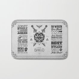 Legend of Zelda - The Hylian Shield Foundry Bath Mat