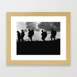 Soldier Silhouettes - Battle of Broodseinde Framed Art Print