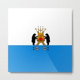 flag of novgorod Metal Print