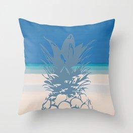 Pineapple Tropical Beach Design Throw Pillow
