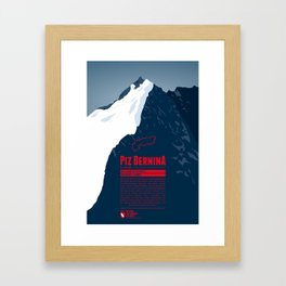 Piz Bernina Framed Art Print