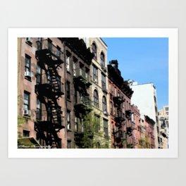 New York Living Art Print