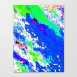 Glitchin' Blue Canvas Print