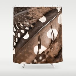 Beautiful Feathers On A Dark Brown Background #decor #buyart #society6 Shower Curtain
